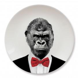 Talerz ceramiczny obiadowy Gorilla duży