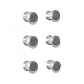 Magnesy aluminiowe PIN komplet 6 szt.