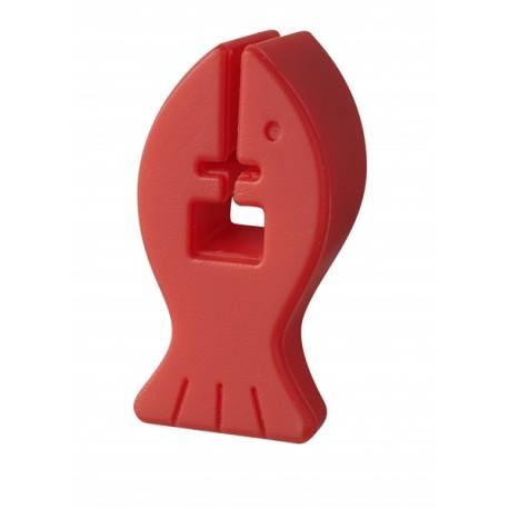 Podpórka silikonowa do przyborów kuchennych czerwona
