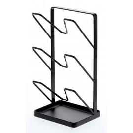 Stojak na trzy pokrywki/deski do krojenia czarny