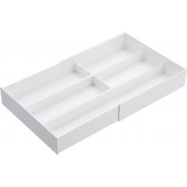 Organizer regulowany do szuflady biały