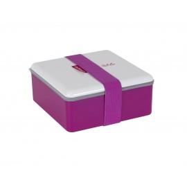 Lunch box Color kwadratowy głęboki różowy 1,1l