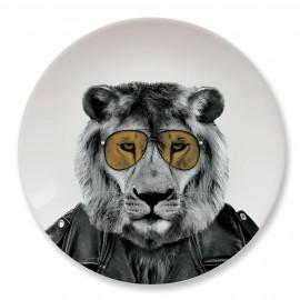Talerz ceramiczny obiadowy LION duży